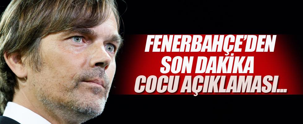 Fenerbahçe'den Phillip Cocu açıklaması...
