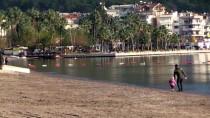 ADAKÖY - Marmaris'te Deniz Yaklaşık 5 Metre Çekildi