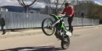 NİLÜFER - Motosiklet Üzerinde Tehlikeli Gösteri