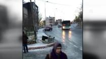 HALK OTOBÜSÜ - Otobüsün Altında Kalmaktan Son Anda Kurtuldu
