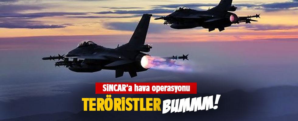 TSK'dan Sincar ve Karacak Dağı'na hava harekatı