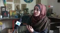 KORDON - Filistinli Kadın Sanatçı Baharatla Resim Yapıyor