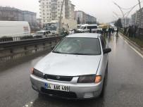 Hastanedeki Kızını Ziyaretten Dönerken Otomobil Çarptı