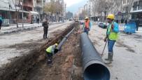 YAĞAN - İzmir Caddesi'ne Yağmursuyu Hattı Döşendi