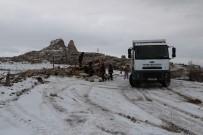 KAÇAK YAPI - Uçhisar'da Kaçak Yapı Yıkıldı