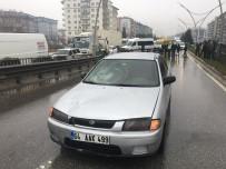 Yoğun Bakımdaki Kızını Ziyaretten Dönerken Otomobil Çarptı