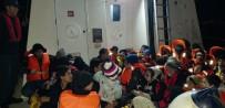 SAHİL GÜVENLİK - Kuşadası'nda 23'Ü Çocuk 50 Kaçak Göçmen Yakalandı