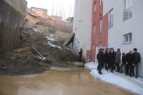 CÜNEYT EPCIM - Başkan Vekili Epcim, İstinat Duvarı Devrilen Okulun Çevresinde İncelemelerde Bulundu