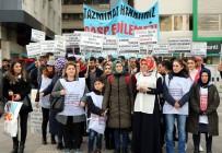 HASAN KAYA - İşten Atılan İşçilerden Halaylı Protesto
