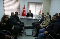 TÜRKIYE GAZETECILER FEDERASYONU - AK Parti Belediye Başkan Adayı Arı Nevşehir Gazeteciler Cemiyetini Ziyaret Etti