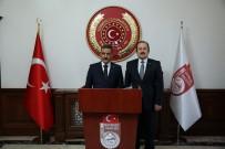 Eski İçişleri Bakanı Ülkü Güney İle Samsun Valisi Osman Kaymak Vali Ali Hamza Pehlivan'ı Ziyaret Etti