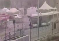 ÇARPMA ANI - Otobüs Gazi Ve Avukatlara Böyle Çarptı