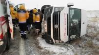 ÖĞRENCİ SERVİSİ - Edirne'de Etkili Olan Kar, Kazaları Da Beraberinde Getirdi