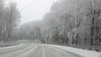 KAR KALINLIĞI - Kırklareli'de Kar Yağışı