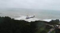 Şile'da Karaya Oturan Kargo Gemisi Havadan Görüntülendi