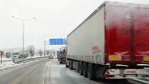 KAR KALINLIĞI - Tekirdağ'da Kar Etkisini Artırdı
