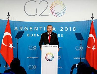 Cumhurbaşkanı Erdoğan'ın G20 trafiği