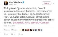 YEKTA SARAÇ - YÖK Başkanımız Saraç Anadolu Üniversitesinin 60. Yılını Kutladı