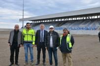 Başkan Sarıalioğlu Yeni Of Stadyumu İnşaatını İnceledi