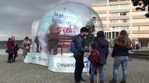 KONSEPT - Çanakkale Belediyesinden Yeni Yıla Özel Kar Küresi