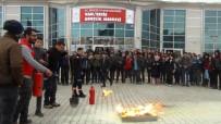 DEPREM RİSKİ - Öğrencilere Deprem Ve Yangın Söndürme Eğitimi