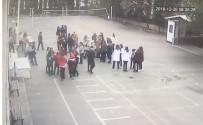 Okuldaki Deprem Paniği Kameralarda