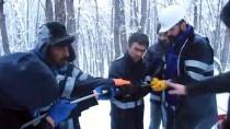 Ovacıklılar Elektriksiz Kalmasın Diye Kar Kış Dinlemiyorlar