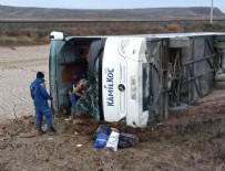 Yozgat'ta yolcu otobüsü devrildi: 1 ölü, 20 yaralı