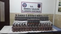 ŞAIR EŞREF - Denizli'de 104 Litre Kaçak Viski Ele Geçirildi