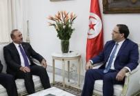 TUNUS BAŞBAKANI - Dışişleri Bakanı Çavuşoğlu, Tunus Başbakanı Şahid İle Bir Araya Geldi