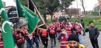 KIRMIZI GÜL - Osmanlı Ocakları FOX Tv Önüne Siyah Çelenk Bıraktı