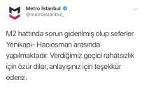TEKNİK ARIZA - Yenikapı - Hacıosman Metro Hattındaki Arıza Giderildi