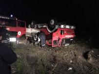 İtfaiye Aracı Kaza Yaptı Açıklaması 3 İtfaiyeci Yaralı