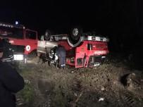 Olaya Giden İtfaiye Aracı Kaza Yaptı, 3 İtfaiyeci Yaralandı