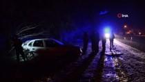 MURAT TÜRKMEN - Kar Yağışı Beraberinde Kazaları Getirdi Açıklaması 1 Ölü, 8 Yaralı
