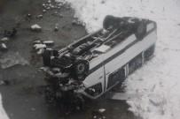 Trabzon'da Yolcu Minibüsü Dereye Uçtu Açıklaması 15 Yaralı