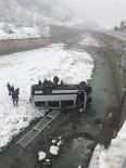 Trabzon'da Yolcu Minibüsü Dereye Uçtu Açıklaması 8 Yaralı