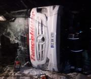 Yolcu Otobüsleri Devrildi Açıklaması 3 Ölü, 72 Yaralı