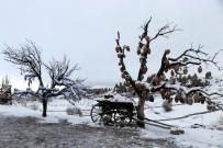Karlarla Kaplı Peribacaları Hayran Bıraktı
