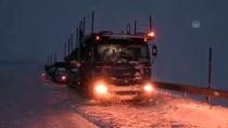Erzincan'da Kar Yağışı Ve Tipi Ulaşımı Olumsuz Etkiledi