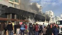 KORDON - Mersin'de Apartmanın Altındaki Dükkanda Çıkan Yangın Korkuttu