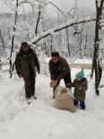 Yaban Hayvanları İçin Dağlara Yiyecek Bırakıldı
