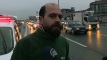 HAFRİYAT KAMYONU - Gaziosmanpaşa'da Zincirleme Trafik Kazası