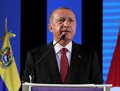 Başkan Erdoğan Venezuela'da açıklamalarda bulundu
