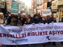 BAYRAMPAŞA BELEDİYESİ - Bayrampaşa'da Engelli Vatandaşlar Farkındalık İçin 'Engelsiz Yürüyüş' Gerçekleştirdi