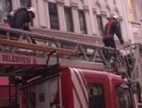 KARAKÖY - Karaköy'de otelde yangın paniği