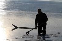 BALIK TÜRÜ - Buz Tutan Çıldır Gölü'nde Görsel Şölen