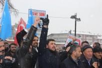 İSLAM İŞBİRLİĞİ TEŞKİLATI - Sivas'ta Kar Altında Çin Protestosu