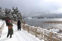 Yeni Yıla Karlar İçinde Girmek İsteyen Tatilciler Abant'a Akın Etti
