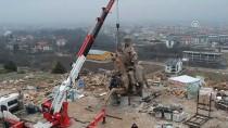 KAZAKISTAN - Dev Köroğlu Heykelinin Montajına Başlandı